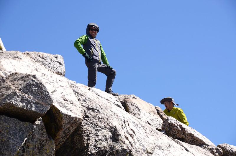 Yulin & Tony on the summit of Mt. Harvard (2)