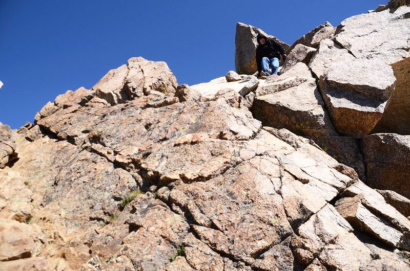 The final summit pitch, climb up through the rocks to reach the top (8)