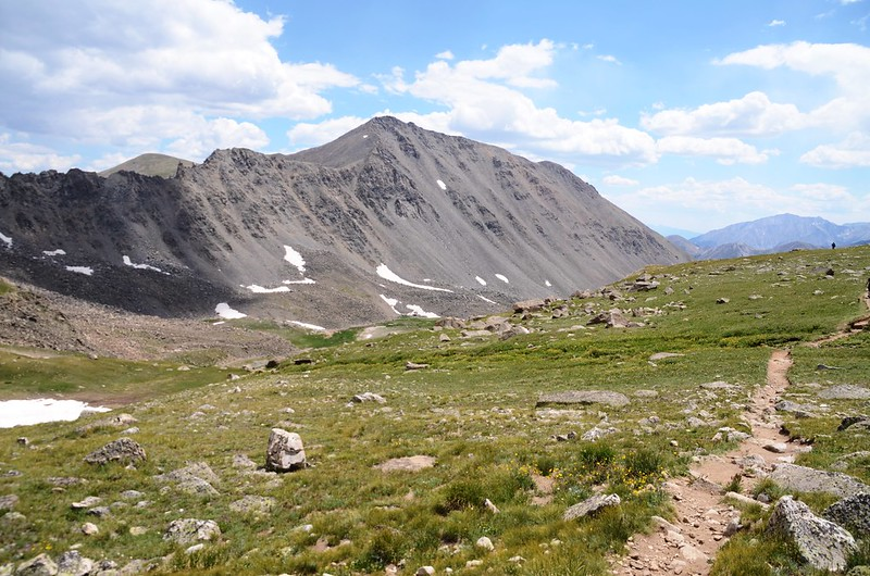 Mount Columbia from the shoulder on the east side of Unnamed Peak 13,598'