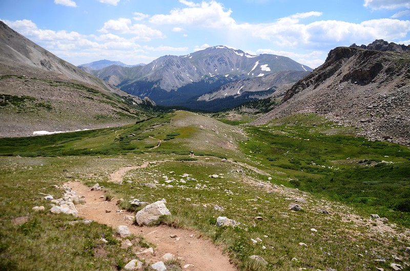 Looking south at Mount Yale from the trail between the top of Horn Fork Basin & Bear Lake junction (9)