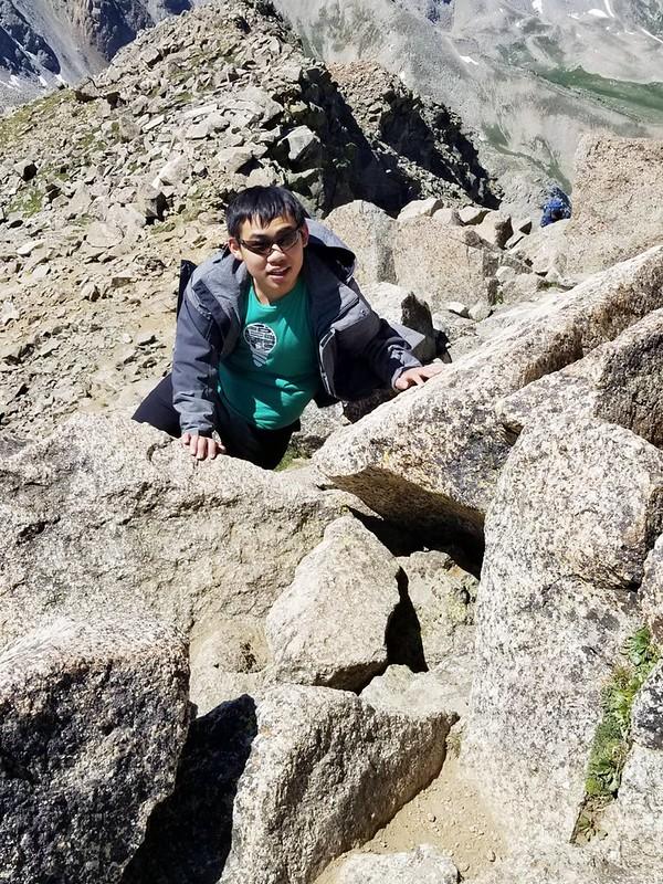 Climbing up to the summit of Mount Harvard (4)