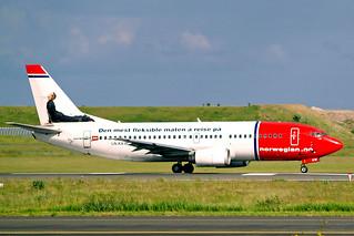 LN-KKW   Boeing 737-3K9 [24213] (Norwegian Air Shuttle) Copenhagen-Kastrup~OY 11/06/2008