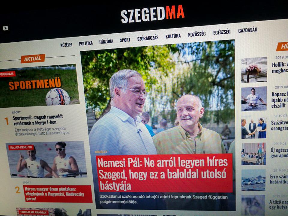 Utánozhatatlan propagandainterjút hozott tető alá a SzegedMa Nemesi Pállal