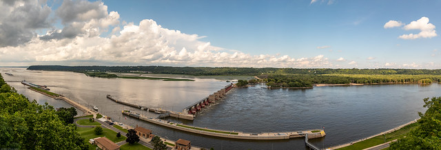 Lock & Dam #11 on The Mississippi River