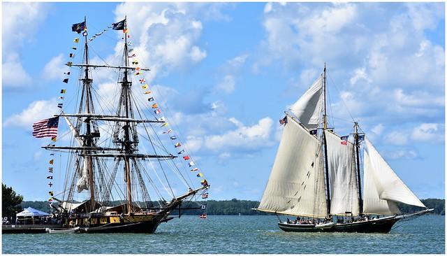 U.S. Brig Niagara & Lettie G. Howard @ Erie PA Tall Ships Festival 2019