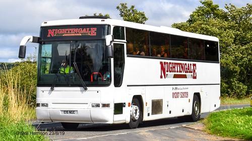 Nightingale Coaches Volvo B10M/Plaxton Premiere reg no C15NGC