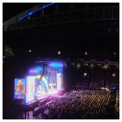 Katy Perry on the stage of Amazon's Post Prime Day Concert