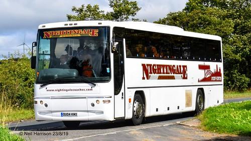 Nightingale Coaches Dennis Javelin/Plaxton Profile reg no OU04KMX