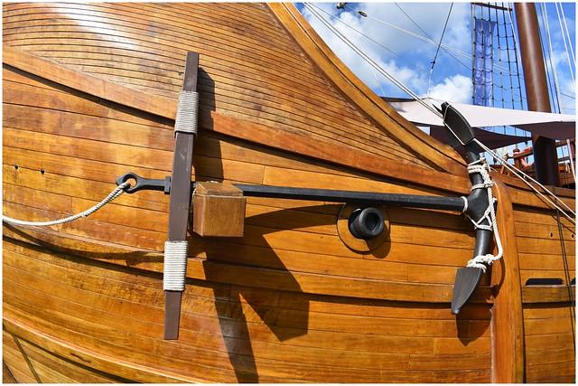 Nao Santa María's port anchor @ Erie, PA Tall Ships Festival 2019 (Photo 4 of 12)