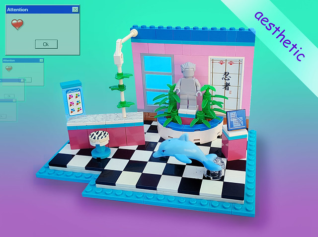 Vaporwave set: Let's go to the mall