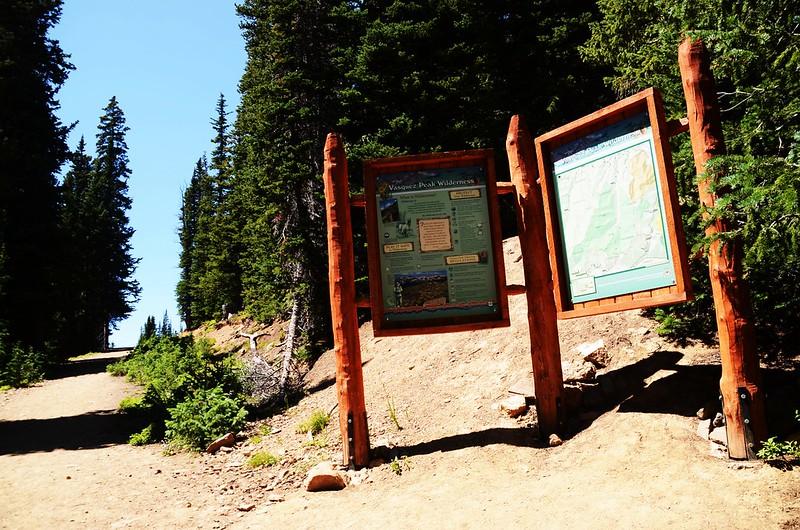 Vasquez Peak Wilderness sign