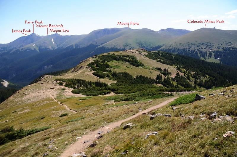 Looking east at James Peak~Colorado Mines Peak ridge from Continental Divide trail (3)