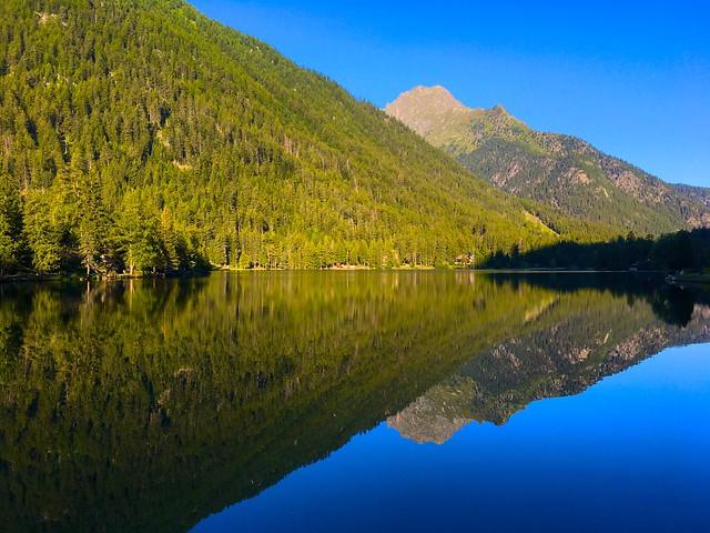 The lake of Champex in Valais / Wallis, Switzerland