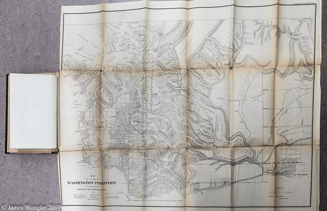 1861 WASHINGTON STATE TERRITORIAL MAP
