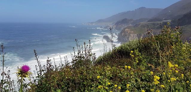 California Coast along Big Sur as seen from Highway 1, CA