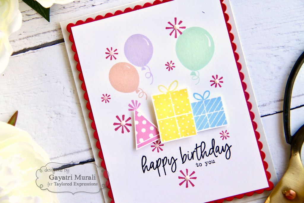 Happy Birthday card closeup