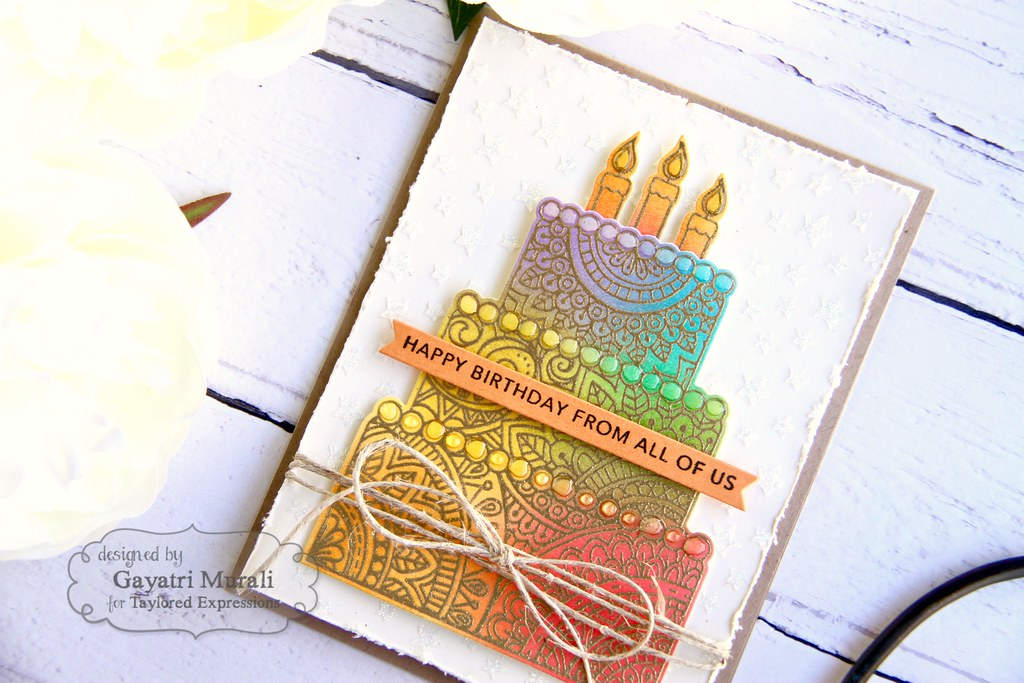 Gold Birthday card closeup1
