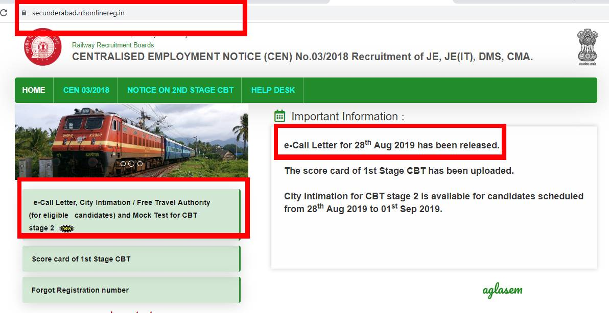 RRB JE CBT 2 Admit Card LIVE Updates: All RRBs have released e-call letter for 28 August!