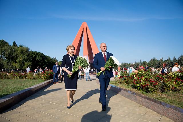24.08.2019 depuneri de flori 75 ani eliberarea Moldovei