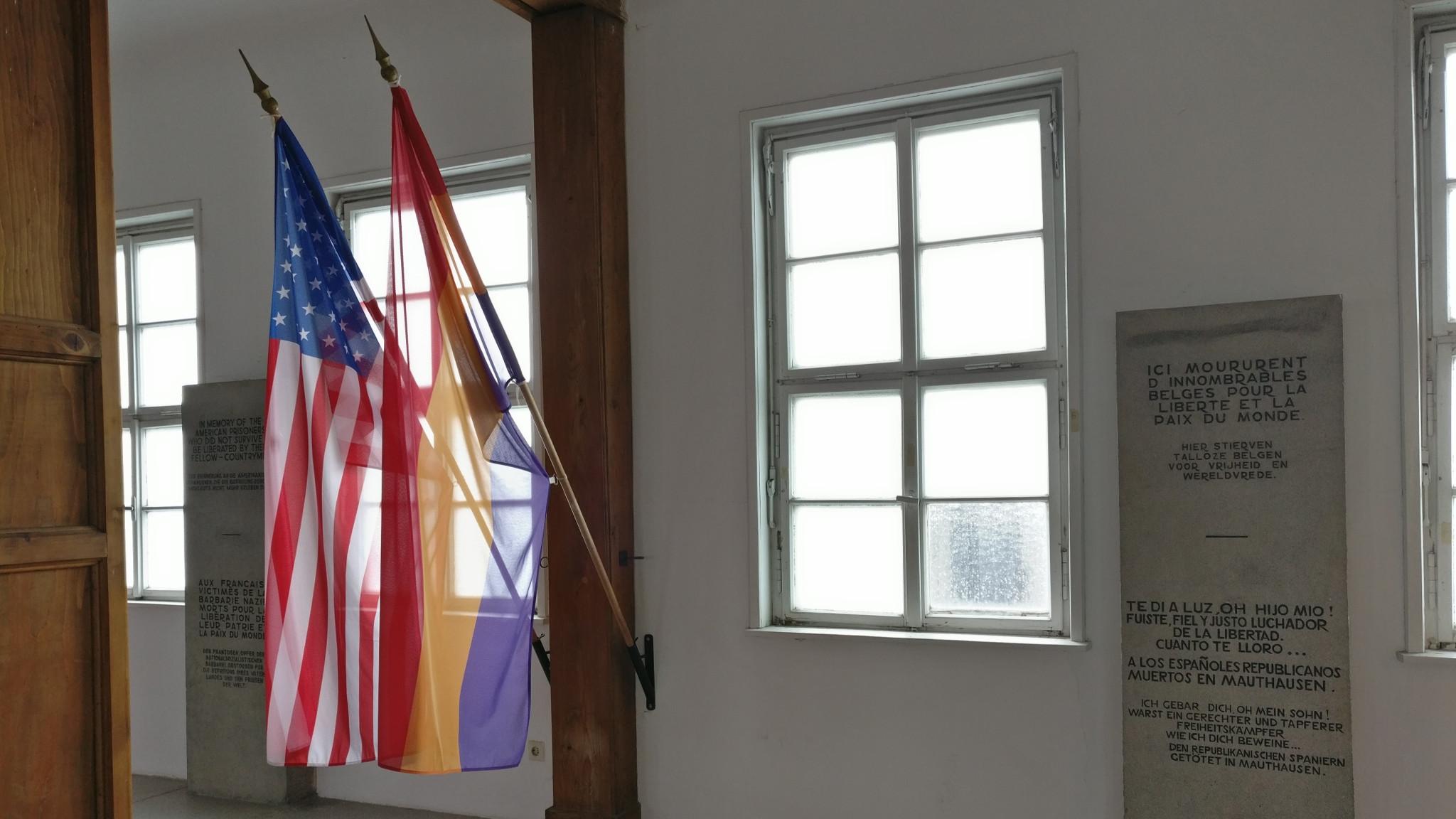 Spanish Second Republic flag in Mauthausen