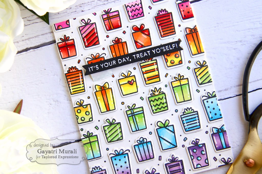 Presents card closeup