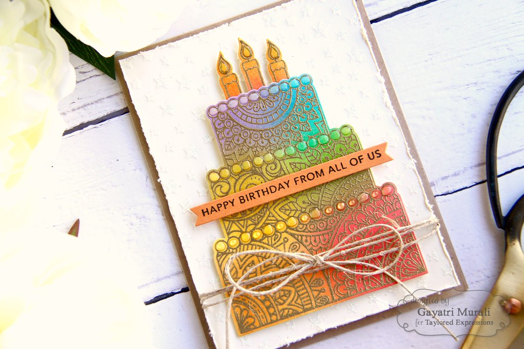 Gold Birthday card closeup