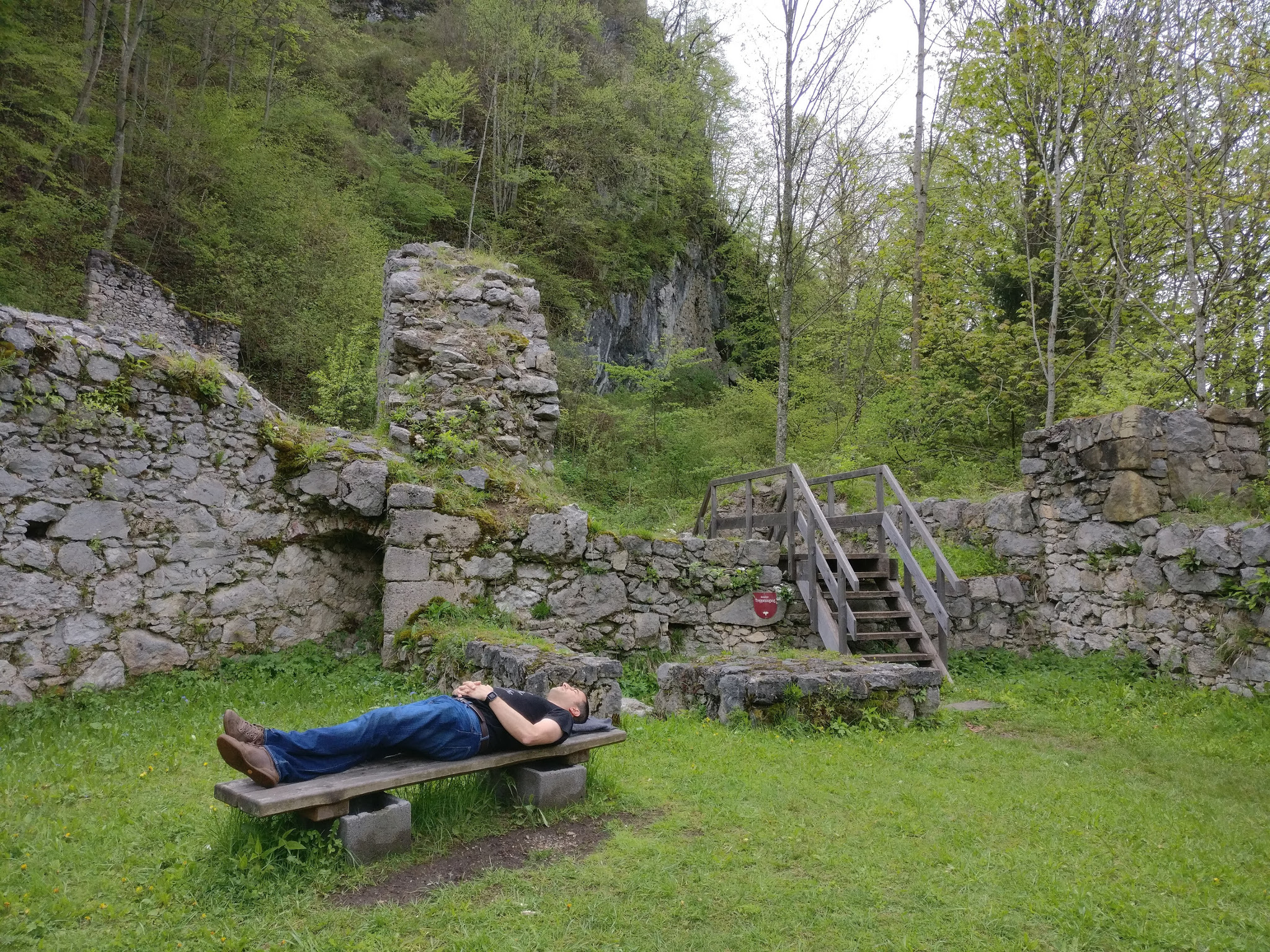 Relaxing at Scharnstein Castle