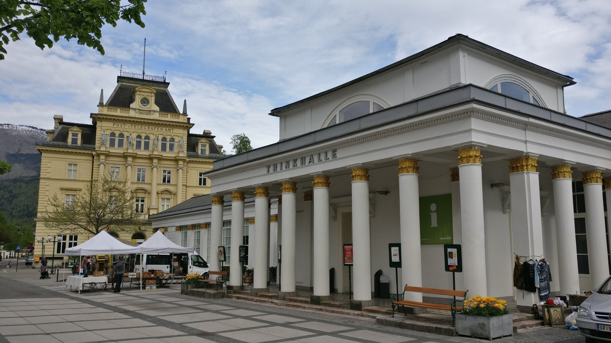 Post Office and the Trinkhalle in Bad Ischl