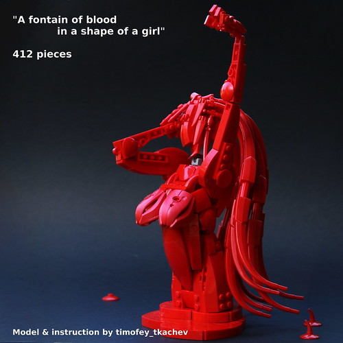 A fontain of blood in a shape of a girl (remake) instruction available