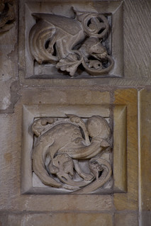 Münster, Westfalen, Paulusdom, Paradies, door jambs, detail