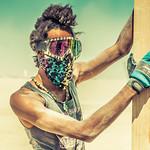 Deven at Burning Man