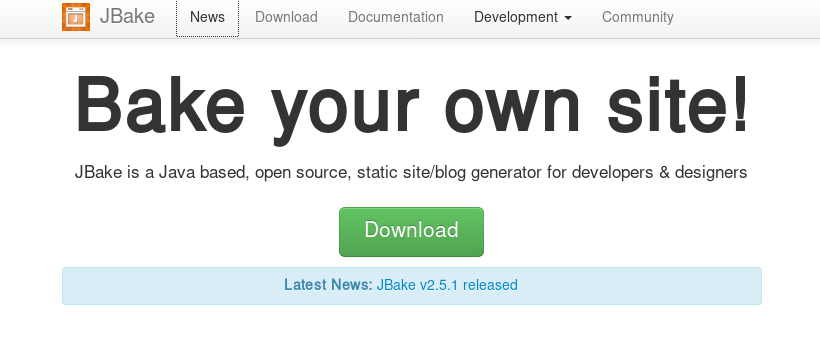 Bake your own site with JBake