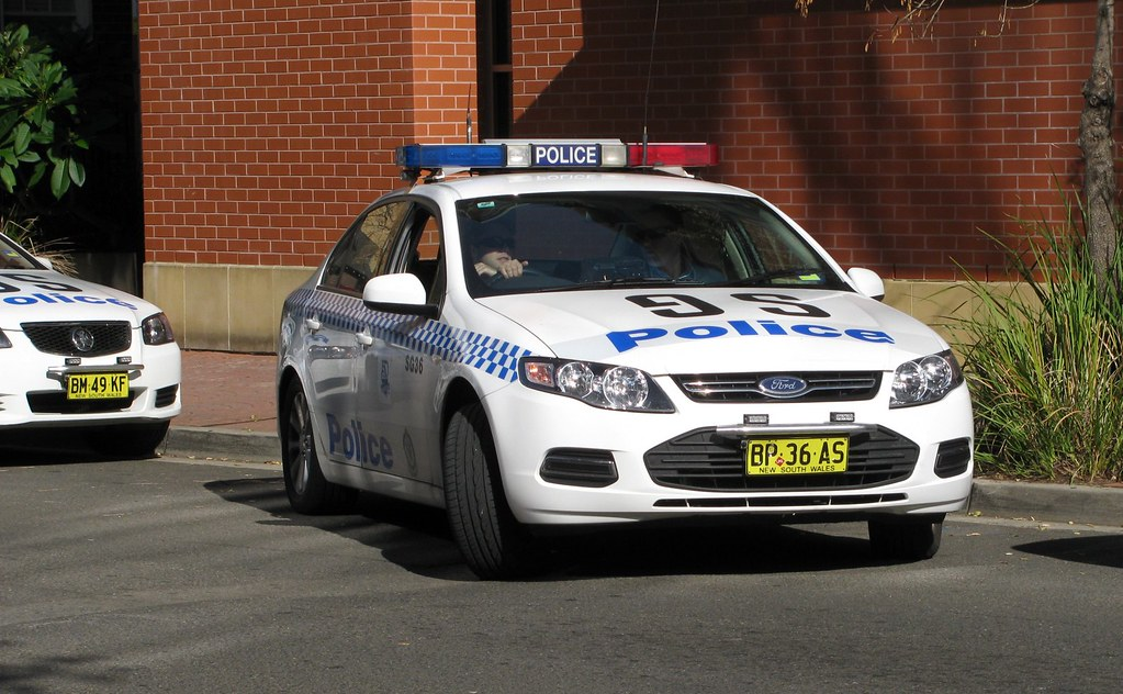 Police Car, Police Station, Kogarah, Sydney, NSW.