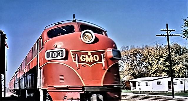 Gulf Mobile & Ohio Diesel Unit 103.