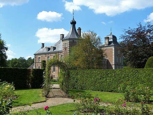 In the garden of Weldam Castle near Goor