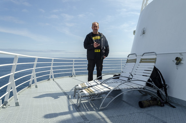 Hubby at the front of Deck 10.