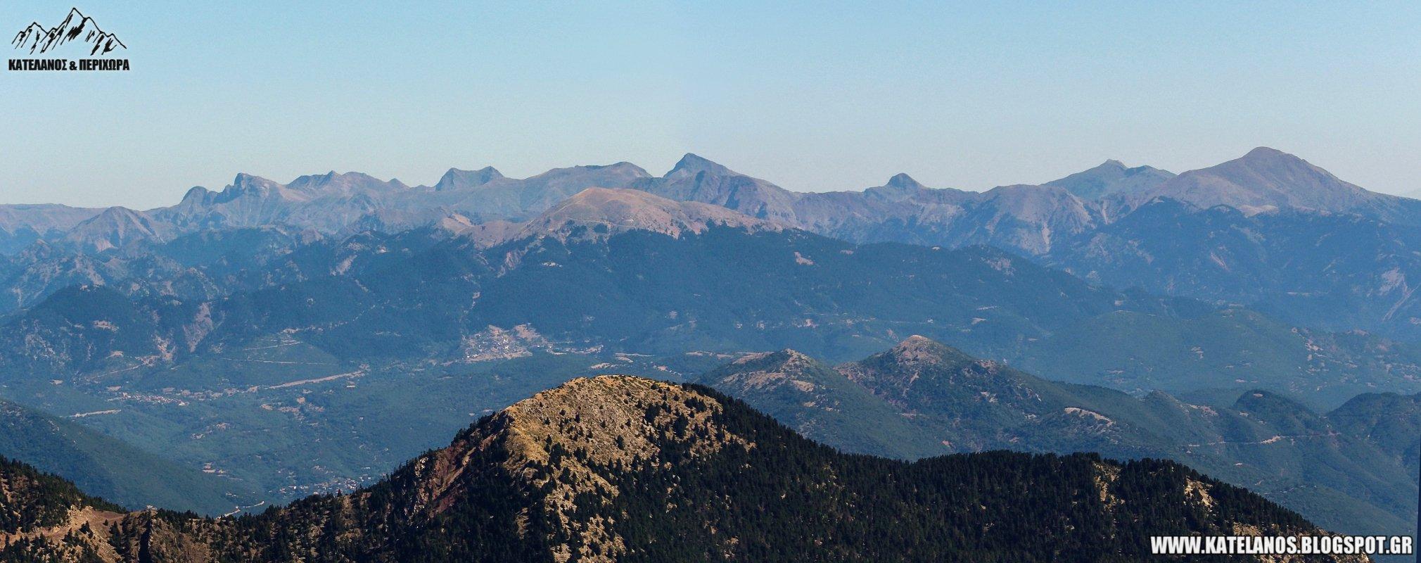 οροσειρα ανατολικων αγραφων αγραφα βουνα