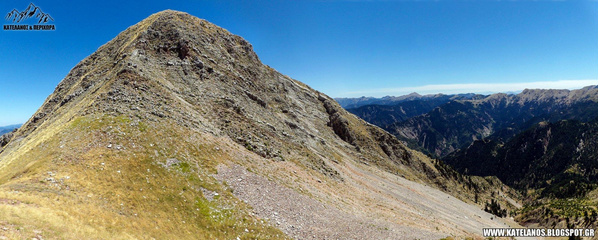 νεραίδοβουνι πανω απο την καταβοθρα ευρυτανιας ορειβασια παναιτωλικο ορος