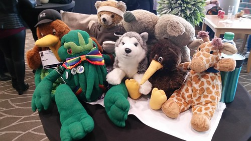 Stuffed Friends at Eurocon