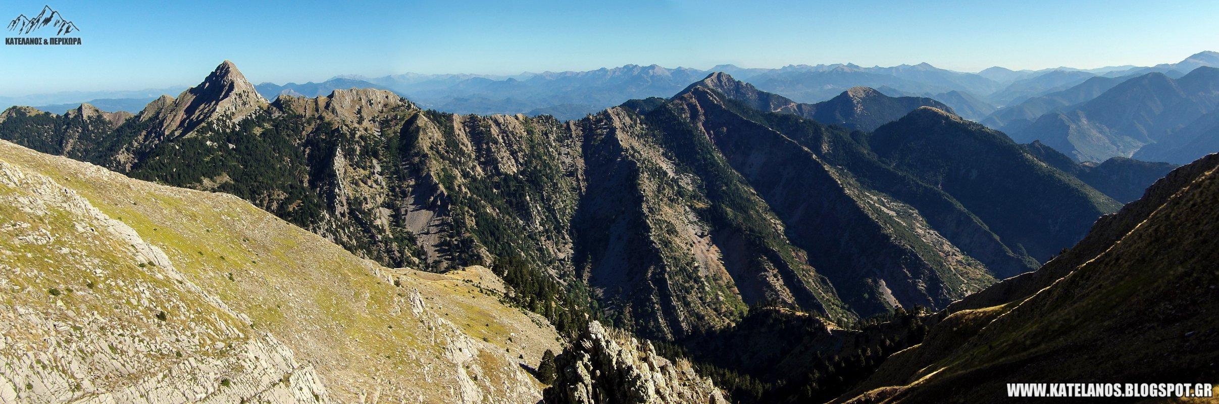 κορυφες παναιτωλικου ορους βουνα πανω απο το σταυροχωρι κουτουπας παλουκι νεραιδοβουνι