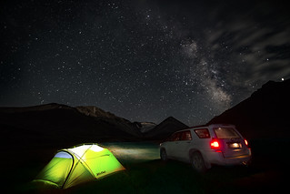 Night in the Tien Shan Mountains in Kyrgyzstan