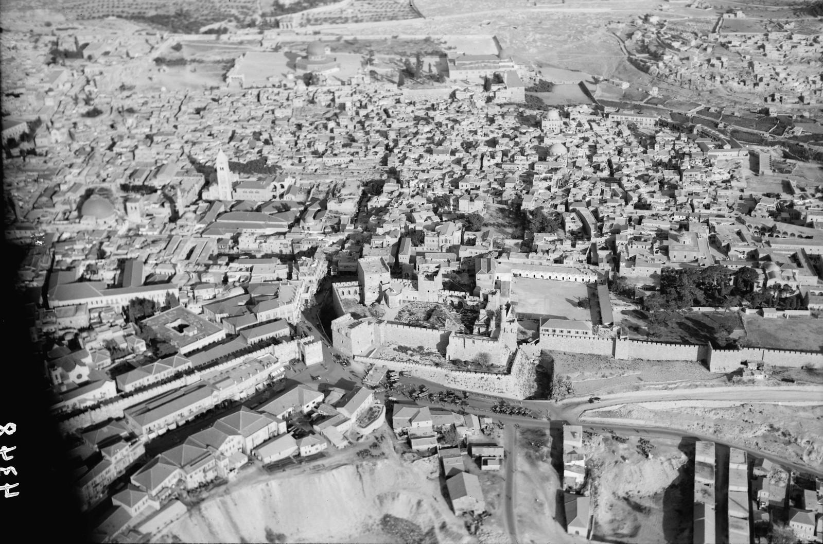 01. Иерусалим с воздуха (Старый Город).  Яффские ворота и Цитадель
