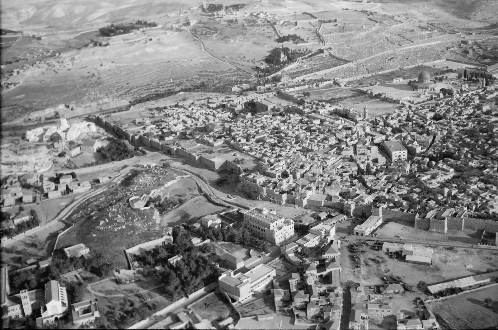 03. Иерусалим с воздуха (Старый Город). Дамасские ворота и за их пределами