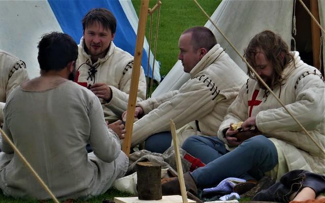 Battle of Evesham, Camp