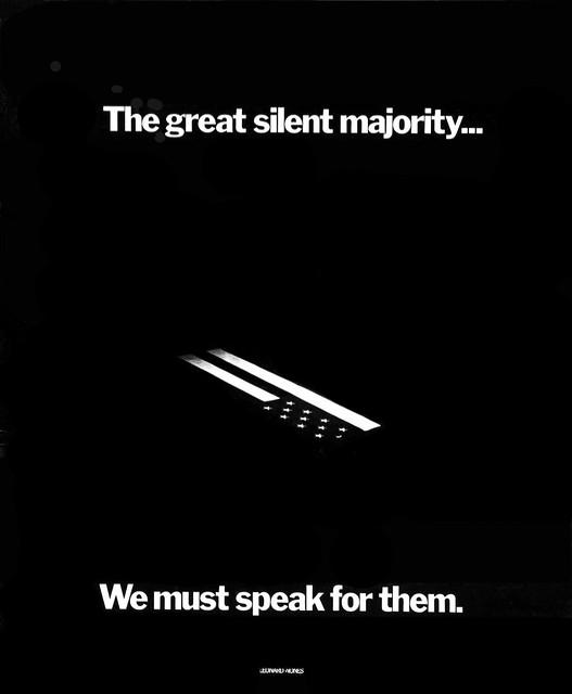 1972 Vietnam War protest poster - The great silent majority---We must speak for them --Leonard Nones photo