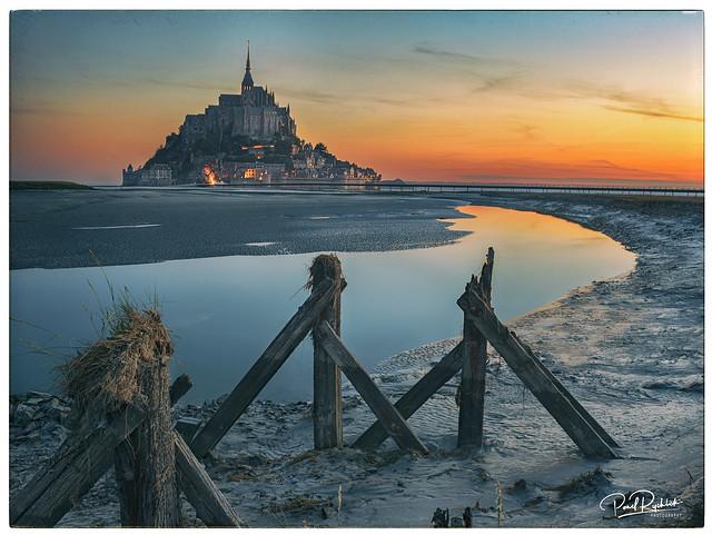 Le Mont Saint-Michel at Dawn.