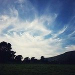 24. August 2019 - 18:59 - An early evening dog walk in Swaledale with the high clouds looking amazing.