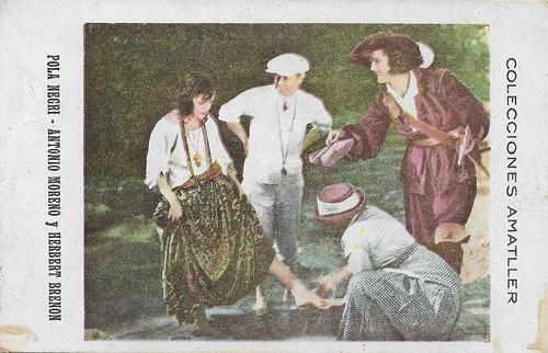 Colecciones Amatller, Pola Negri, Antonio Moreno, and Herbert Brenon