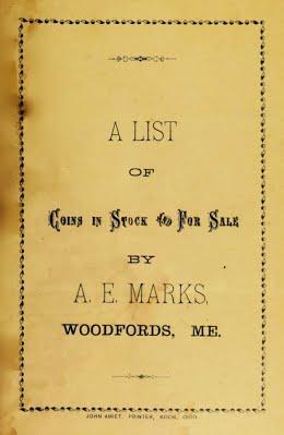 A E Marks 1896 pricelist