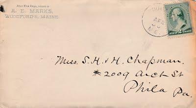 A E Marks 1888 Chapman letter